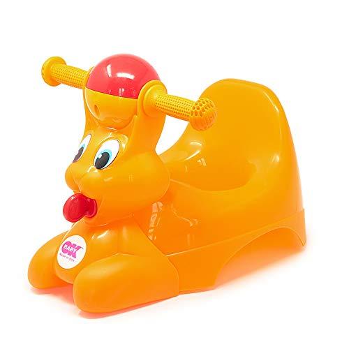 OKBABY Spidy - Vasino per Bambini con Seduta Ergonomica, a Forma di Coniglio - Arancione