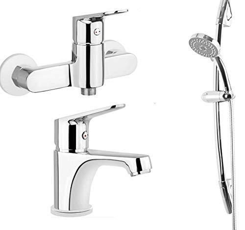 Badset Badewannenarmatur Waschtisch Regendusche Duschgarnitur SeT BGLA040M