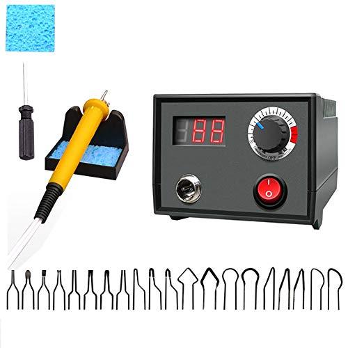 ZRNG 30W Temperatura Ajustable Burnador de Madera Pyrography Pen Máquina Quemar la máquina Herramienta de Las artesanías Conjunto con Alambre de Soldadura 110V / 220V