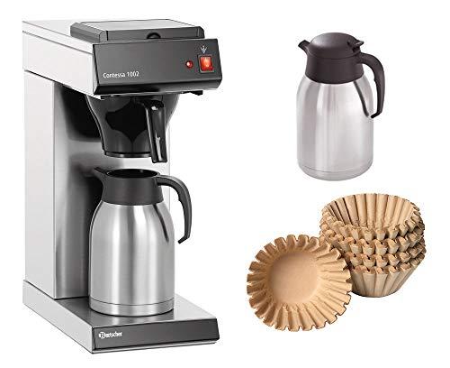 Bartscher Kaffeemaschine Contessa 1002 + 500 Korbfilter + 2. Isolierkanne