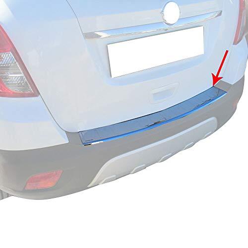 OMAC Heckstoßstange Ladekantenschutz Abdeckung Kompatibel mit Opel Mokka & Mokka X | Auto Innen Zubehör Dampfer Kofferraum Chrom Edelstahl
