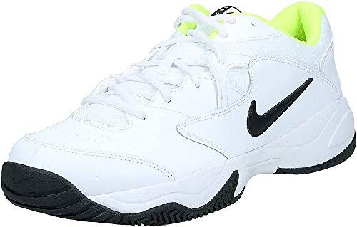 Nike Court Lite 2, Scarpe da Tennis Uomo, White/Black/Volt, 44 EU