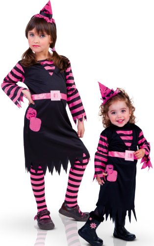 Rubies Disfraz Infantil - Brujita Rosa 3-4 años