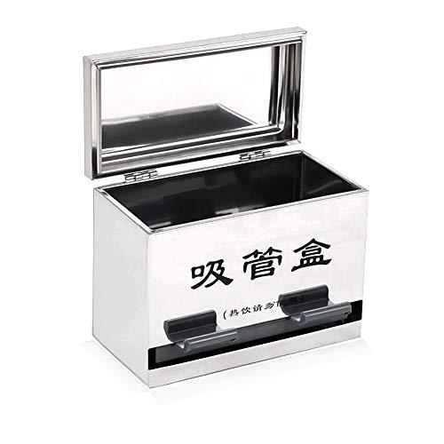 Echaprey Stainless Steel Pencil Dispenser/Straw Dispenser/chopsticks Dispenser,for Bulk Pencil Storage/Bulk Unwrapped Drinking Straws Storage