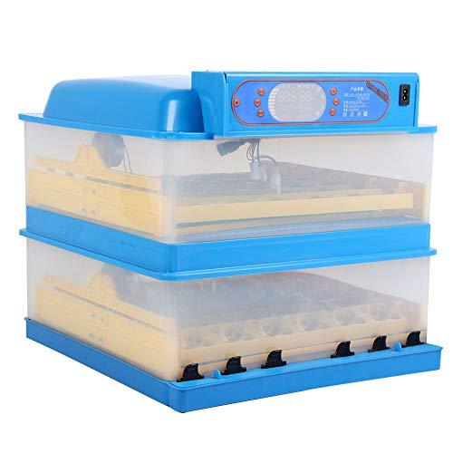 72 Eier Inkubator, Intelligentes Inkubatoren für Geflügeleier mit LED Temperaturanzeige und Feuchtigkeitsregulierung, Geflügel Tauben Brutapparate für Terrarien
