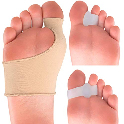 Bunion Corrector Kit - Elastic Beauty Gel Pad Bunion Sleeve for Men Women - Bootie Cushions Splint Orthopedic Foot Protectors - Pain Relief from Tailors Bunion Hallux Valgus Hammertoes - Set of 2