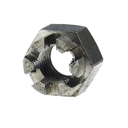 Stahl 5 Stk DIN 935 Kronenmutter Feingewinde M16 x 1,5