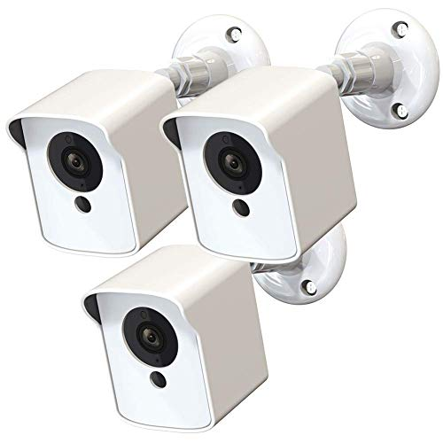 Wyze Cam Outdoor Mount, Upgraded Protective Cover and 360 Degrees Adjustable Wall Mount for Wyze Cam V2 Indoor Outdoor Home Security Camera(White, 3 Pack)