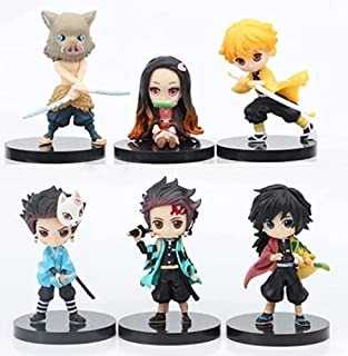Demon Slayer cake toppers of 6 Action Figure Toys Premium Demon Slayer Cake Toppers and Party Favors for Demon Slayer party supplier birthday