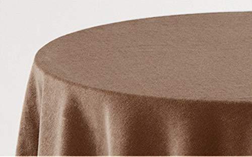 HIPERMANTA Falda Mesa Camilla Redonda Lisa Tacto Suave 100% Poliéster. Tamaño diámetro 100 cm - 243 cm, Camel.