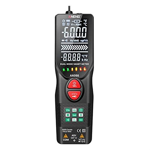 herramientas eléctricas AN998 Multímetro Digital Automático 6000 Cuentos Multímetro Eletric Auto Ranging AC/DC VOLTMETER TEMP OHM HZ TESTER TESTER medidor de voltaje (Color : As shown)