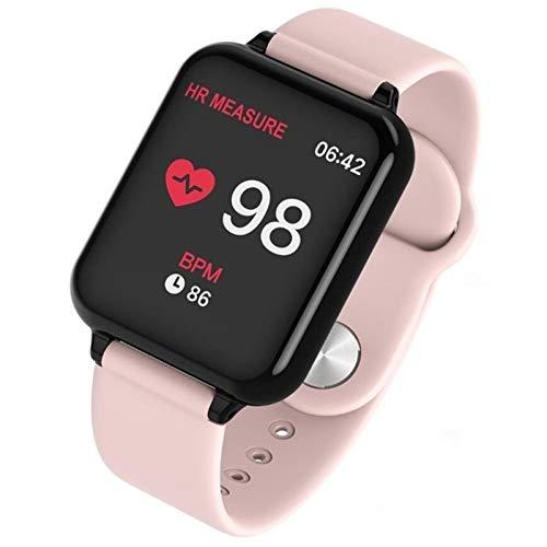 MPWPQ B57 - Reloj inteligente resistente al agua para teléfono iOS y Android, función de presión arterial (color: B57 rosa, tamaño: con caja al por menor)