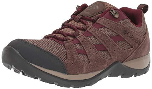 Columbia Women's Redmond V2 Hiking Shoe, Dark Truffle, Rich Wine, 10.5