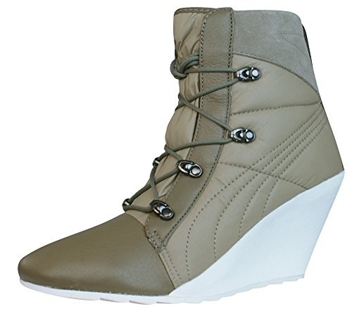 Puma Karmin Bellows Wedge Damen Stiefel - Schuhe-Brown-39