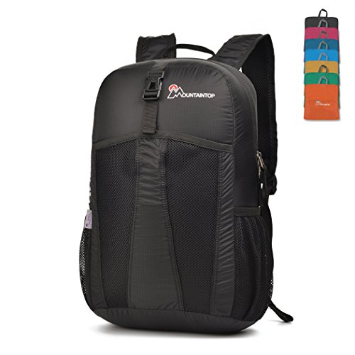 MOUNTAINTOP Packable Backpack Folding Daypack 25l Black