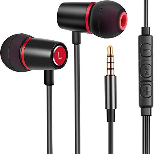 In Ear Kopfhörer, Ear Ohrhörer Kopfhörer in Ears Metallisches Stereo Headset Fusion Audio Kopfhörer Earphones mit Ohrstöpseln und Mikrofon für iPhone Android Smartphones MP3 Players