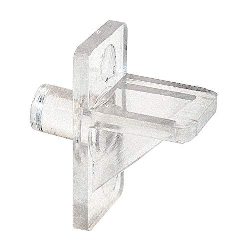 Prime-Line EP 9384 Shelf Support Pegs, 5mm. Diameter, Plastic, Clear (Pack of 12)