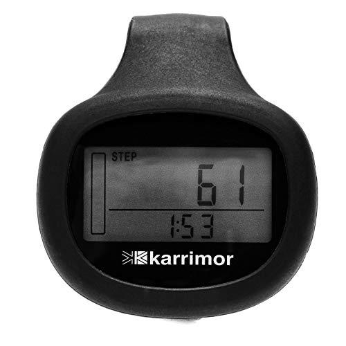 Karrimor Unisex Xlite Schrittzähler, Schrittzähler, Silikon-Clip, Einheitsgröße, Schwarz