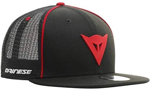 DAINESE 9Fifty Trucker Snapback Cap, Cappello estivo Visiera piatta, nero/rosso, taglia unica