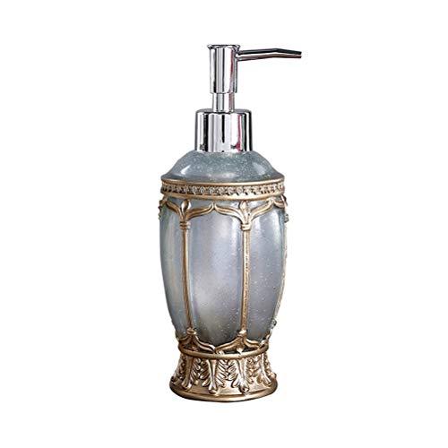 Vintage Pump Liquid Soap Dispenser Luxury Brand Bathroom Kitchen Sink Hand Soap Dispenser Shower Gel Resin Pump Lotion Bottle (Color : Blue)