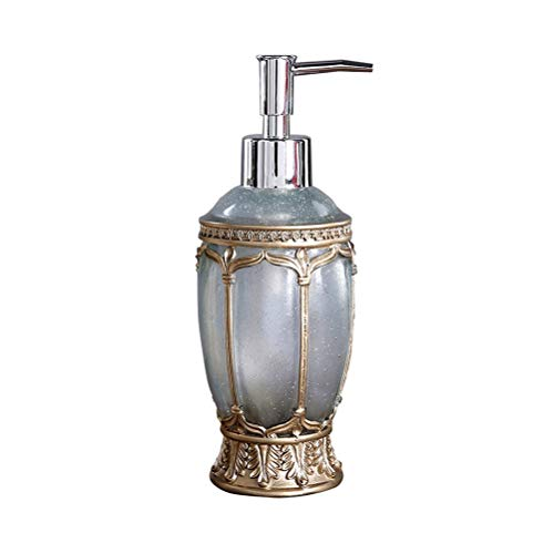 Vintage Pump Liquid Soap Dispenser Luxury Brand Bathroom Kitchen Sink Hand Soap Dispenser Shower Gel Resin Pump Lotion Bottle (Color : Blue)