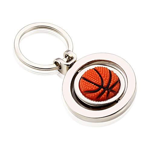 SZLGPJ Mini Llavero de decoración de Forma de fútbol de Baloncesto, Colgante de Metal Giratorio, Anillo de Llavero de función, Llavero de decoración de Cintura pequeña Basketball