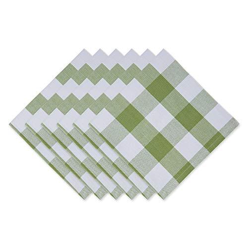 """DII Buffalo Check Collection, Classic Farmhouse Tabletop Set, Napkin Set, 20x20"""", Antique Green, 6 Piece"""