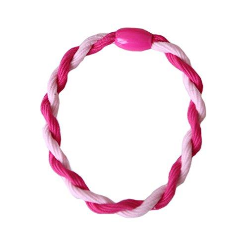 6PCS élégant Cheveux tressés Elastics Elastiques Bandeau, rose