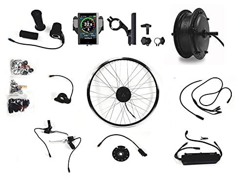 BAFANG E-Bike Umbausatz bafang 36V 250Watt Front Vorderrad (StVZO) E bike Kit 25kmh Elktrofahrrad 20, 26, 28. 27,5, 29 ZollPedelec Umrüstsatz (29Zoll Hydraulik Sensoren) (26Zoll Bremshebel Sensoren)