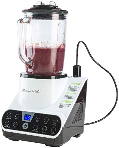 Rosenstein & Söhne Vakuum Mixer: Standmixer mit Vakuumier-Funktion & LED-Touch-Display, 1,5 l, 1.300 W (Stand-Mixer)