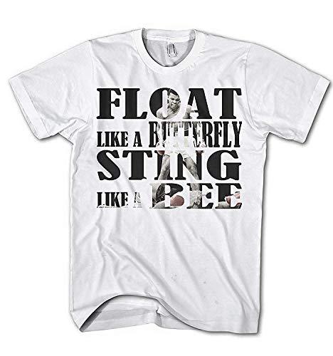 T-Shirt pour Hommes Abdallah Ali Citation Slim fit Boxer Sport S-XXL - Blanc, M