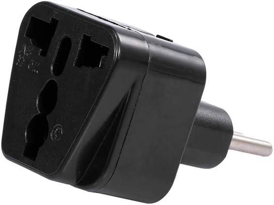 Fesjoy Conversion Plug, 3-Pin Italy Conversion Plug Universal UK/Us/EU/Au to Italy Milan Chile Vatican Italian Travel Power Adapter Plug Converter Black