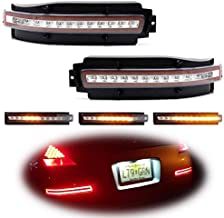 iJDMTOY Clear Lens Rear Bumper Sequential LED Lamp Assy Compatible With 03-09 Nissan 350z, Sequential Flashing LED Turn Signal Lights w/Backup Reverse & Tail/Brake Lights