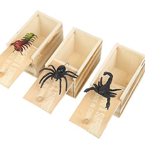Amosfun Caja Sorpresa Cajas Madera Insecto Dentro