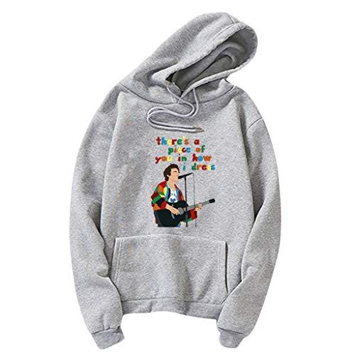 LOOVEE Harry Styles Singer Felpe Treat People with Kindness Autunno Inverno Moda Hip Hop Harry Styles Felpe con Cappuccio a Manica Lunga Maglione Pullover Cappotti Streetwear per Uomo e Donna