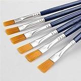 IGRNG 10pcs / Set óleo de la Bella Pintura del Cepillo 17 cm Pintura acrílica Herramientas de Pintura de los niños Digitales de Nylon Ambiental Fila Cepillo de la Pluma de Aprendizaje del Arte