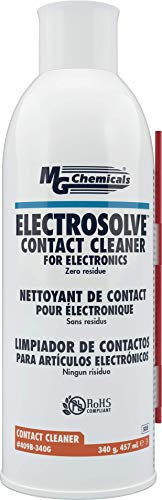 MG Chemicals 409B Electrosolve Zero Residue Electronic Contact Cleaner, Clear 15.45 Fl Oz