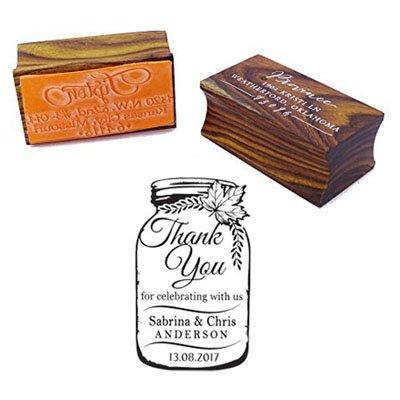 Danke Maurer-Glas-Hochzeits-Einladungs-Stempel Kundenspezifisches hölzernes angebautes Gummi-Stempel-Geschenk