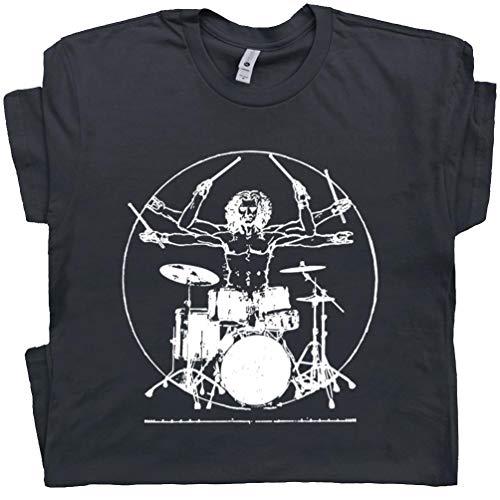 Davinci Drums T Shirt Funny T Shirt Rock Drummer Set Tee Band Drumming Guitar Gift
