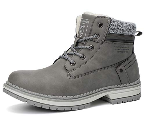 ARRIGO BELLO Botas Mujer Botines Zapatos Invierno Botas de Nieve Cálido Fur Forro Aire Libre Boots Urbano Fiesta Oficina Caminando Senderismo 36-41(40 EU,Gris)