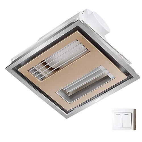 MLZWS Instalación de Ventiladores de extracción en hileras Rectas en el Techo Bombeo de Humos de Alta Potencia Ventilador de ventilación Ventilador de Rejilla de baño