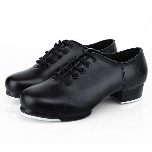 Lingge Jazz Stepptanz Schuhe Frauen Split Sole Leder Material Steppschuhe ErwachseneUnisex Lace Up Frauen Steppschuhe Tanzschuhe Für Frauen Damen Mädchen Supple