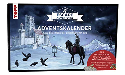 Adventskalender Escape Adventures - Die geheimnisvolle Burg: Löse die 24 Rätsel der geheimnisvollen Burg. Mit geheimnisvollen Objekten, digitalen Extras und einer magischen Geschichte