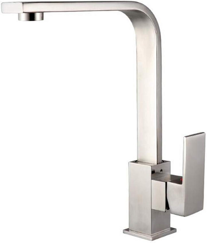 GYKFY Küchenspüle Vollkupfer Wasserhahn 360 Grad Drehen Küchenschale Heien und Kalten Wasserhahn Einhandmischer Wasserhahn,Brushed