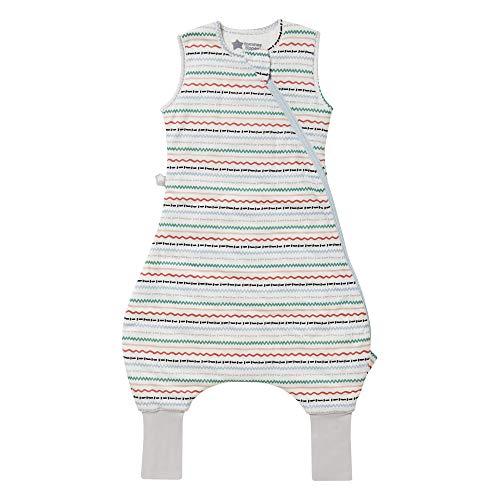 Tommee Tippee Saco de dormir para bebé con piernas, The Original Grobag Steppee, mameluco para bebé, tela suave rica en algodón, 18-36 m, 2,5 Tog, grandes Squiggles