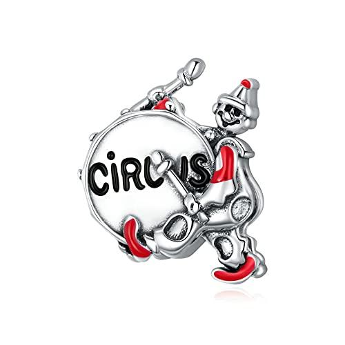 LIJIAN DIY 925 Sterling Jewelry Charm Beads Genuine Drumming Payasos Metal Cute Make Original Pandora Collares Pulseras Y Tobilleras Regalos para Mujeres