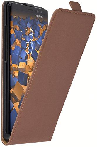 mumbi Tasche Flip Case kompatibel mit Samsung Galaxy Note 8 Hülle Handytasche Case Wallet, braun