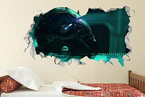 Wandtattoo Film Hero Steel Helm Aufkleber zerschlagen 3D Sticker Art Vinyl-50x70cm