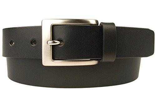 Belt Designs Taille 96.5-107 cm (L) – Noir Ceinture en cuir de qualité pour Homme - Fabriqué au Royaume-Uni - BD-0021-30-BLK-L