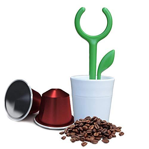 Cremetto - Ricarica capsule compatibili Nespresso Riutilizzabile a forma di piccola Pianta di Design